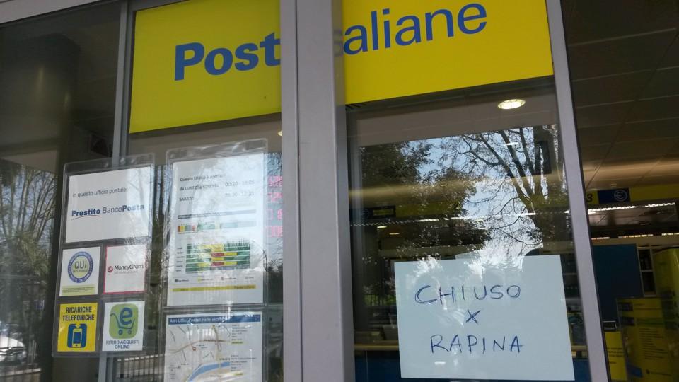 Tortoreto, rapina all'ufficio postale: assalto al portavalori