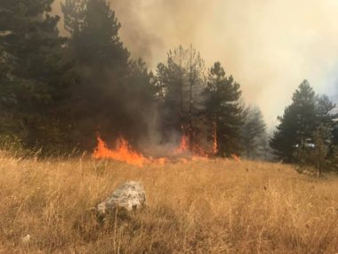 incendio valle peligna