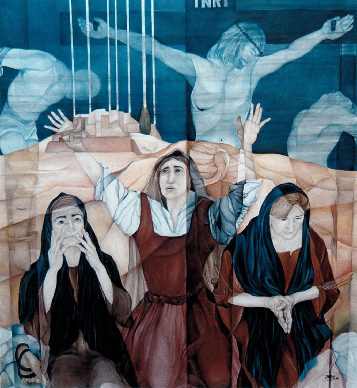 """Donata alla Chiesa di Santa Maria Maggiore l'opera """"Le tre Madri"""" di Nicola Falcone"""