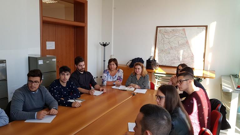 Roseto, incontro-studio studenti del Moretti in Comune