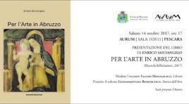 """A Pescara la presentazione del volume """"Per l'arte in Abruzzo"""" di Enrico Santangelo"""