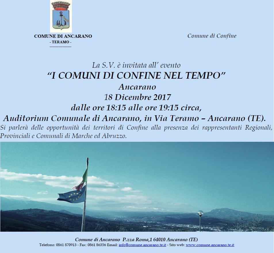 """""""I Comuni di Confine nel Tempo"""", l'iniziativa ad Ancarano"""