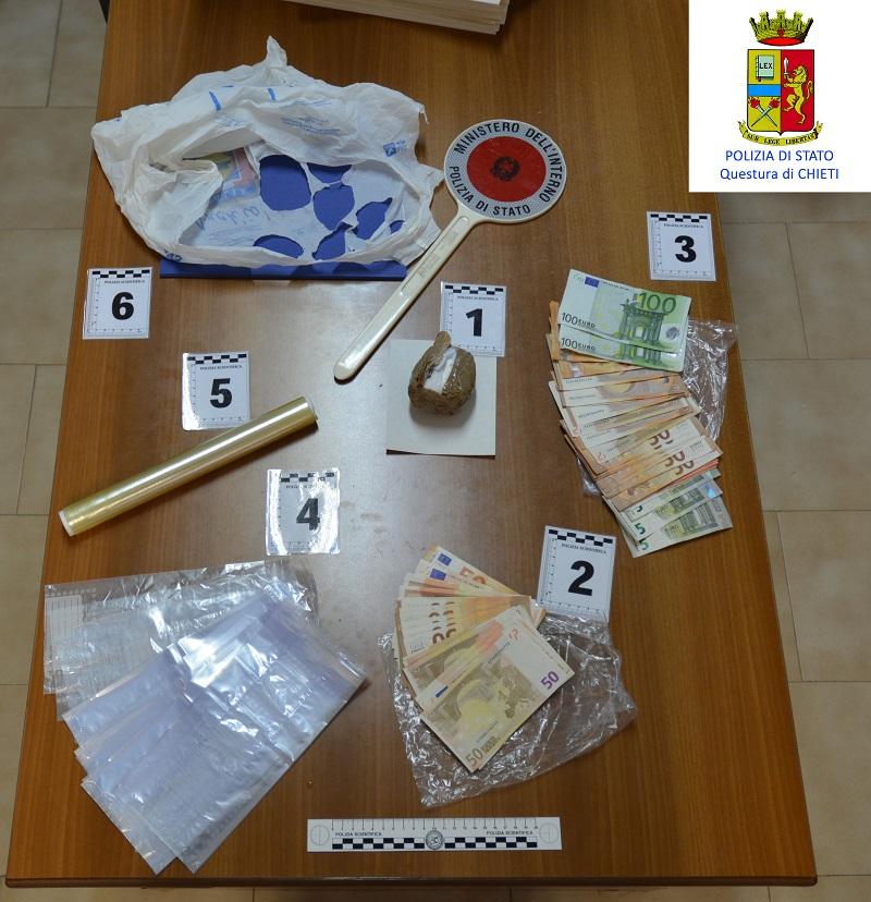 Francavilla,arrestato spacciatore albanese con 100 grammi di cocaina