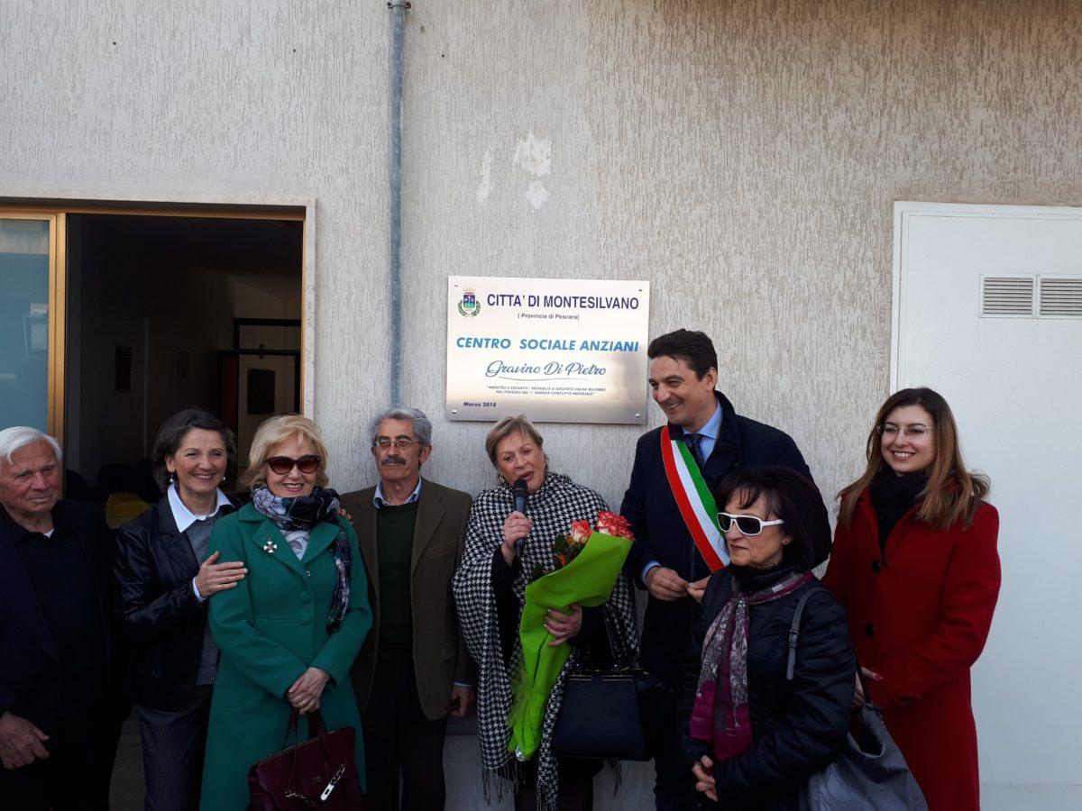 Montesilvano, inaugurato il nuovo centro anziani in via Marrone