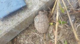 Trova bomba a mano in giardino: arrivano gli artificieri