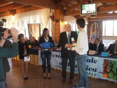 consegna premio a Tamberi gianmarco