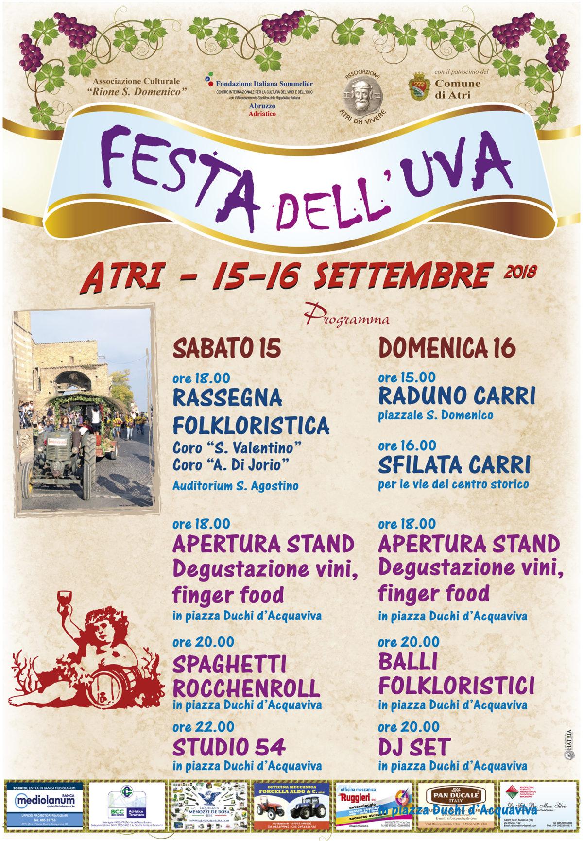 """Torna ad Atri la tradizionale """"Festa dell'Uva"""" con sfilata di carri allegorici"""