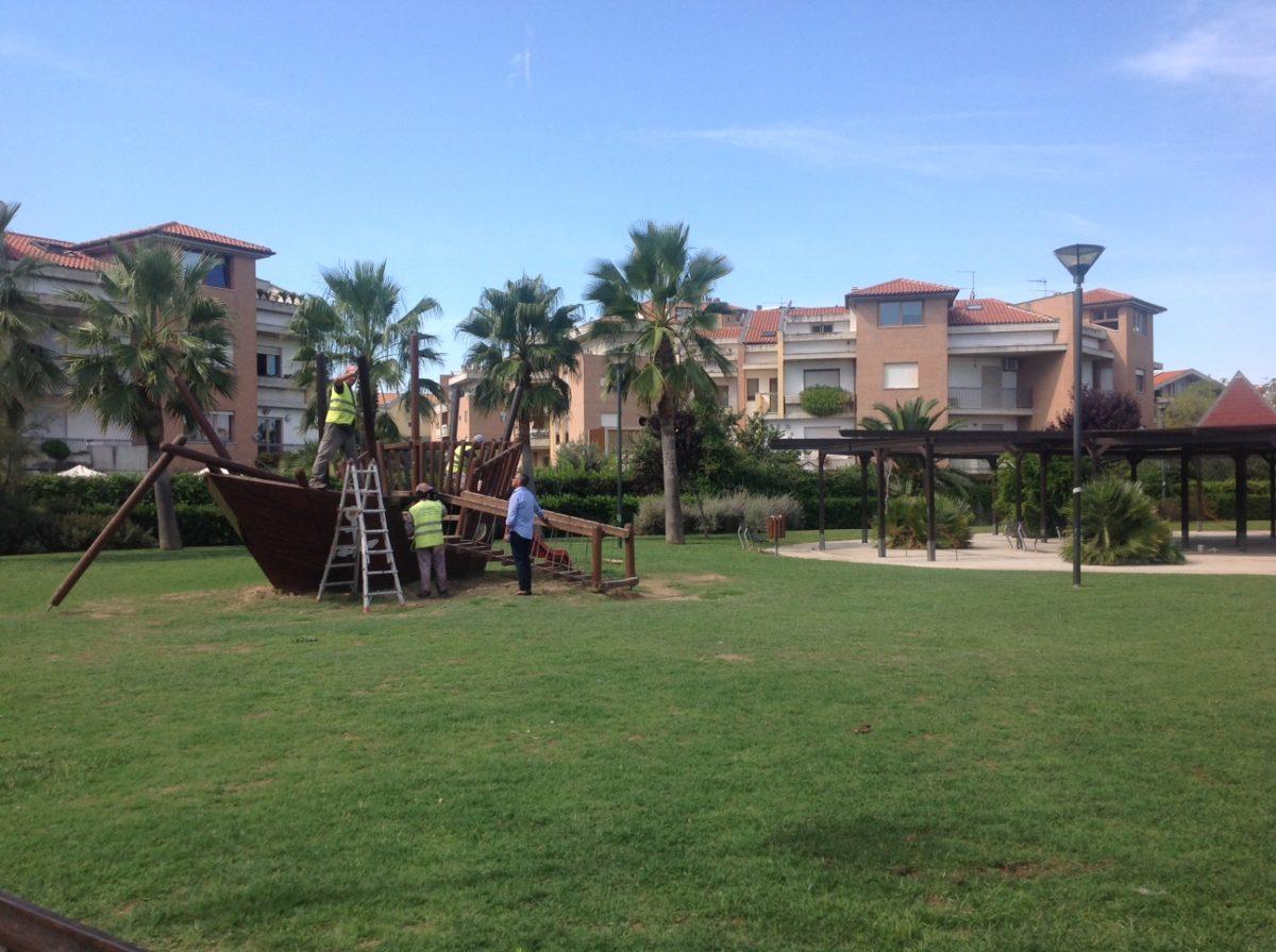 Parco Le Vele, in corso i lavori di risistemazione del parco