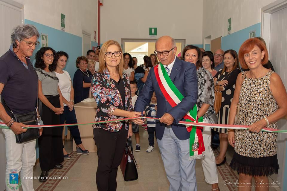 Tortoreto paese , inaugurata la sezione della scuola dell'infanzia