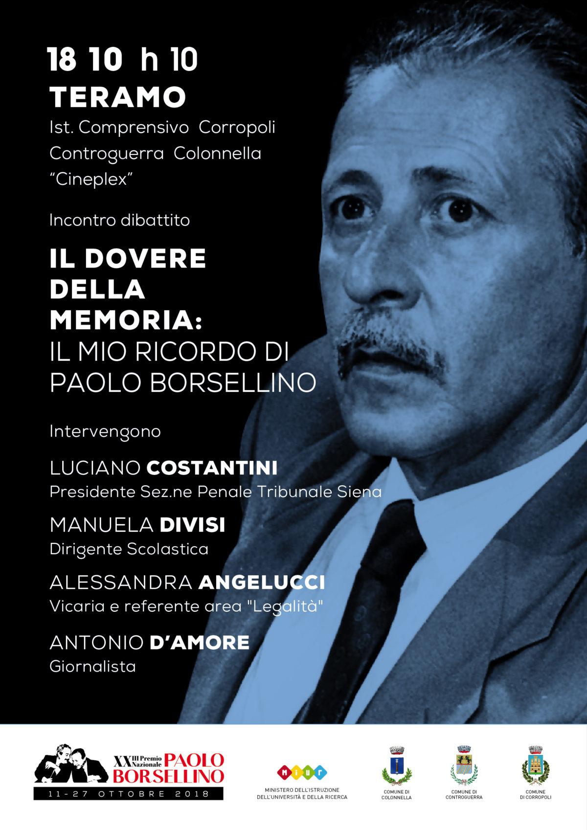 Legalità, l'Istituto Comprensivo Corropoli incontra il giudice Luciano Costantini