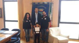 Premiato in Comune Tristan Di Loreto, campione di minimoto a soli 5 anni