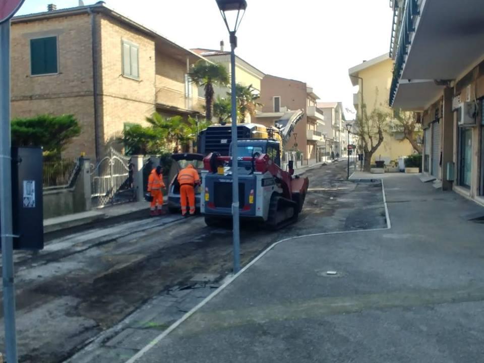Pineto, iniziati i lavori di manutenzione delle strade comunali