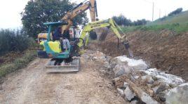 Al via i lavori anche sulle strade extraurbane del comune di Pineto
