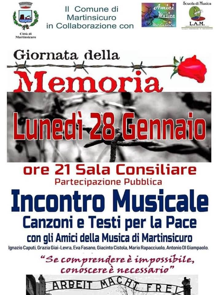Martinsicuro, serie di iniziative per celebrare la Giornata della Memoria