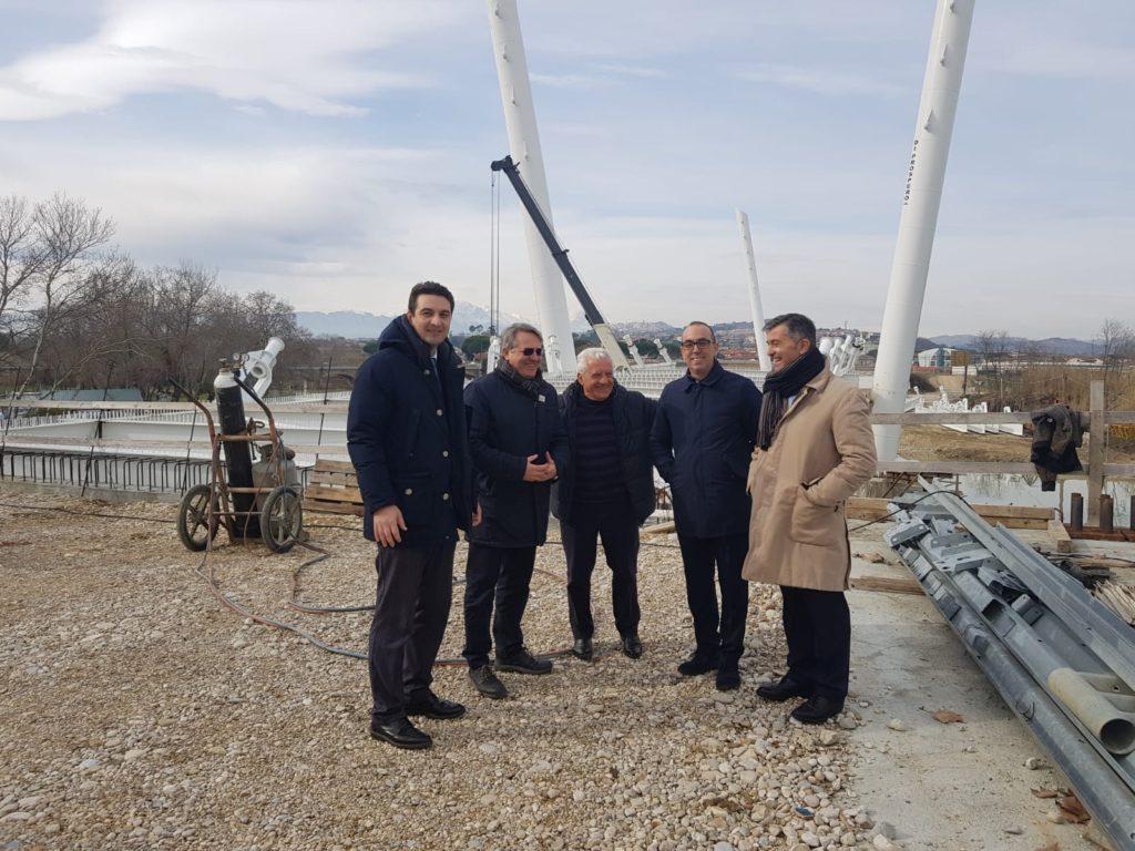 Terzo ponte sul Saline, sopralluogo del sindaco con il presidente Zaffiri
