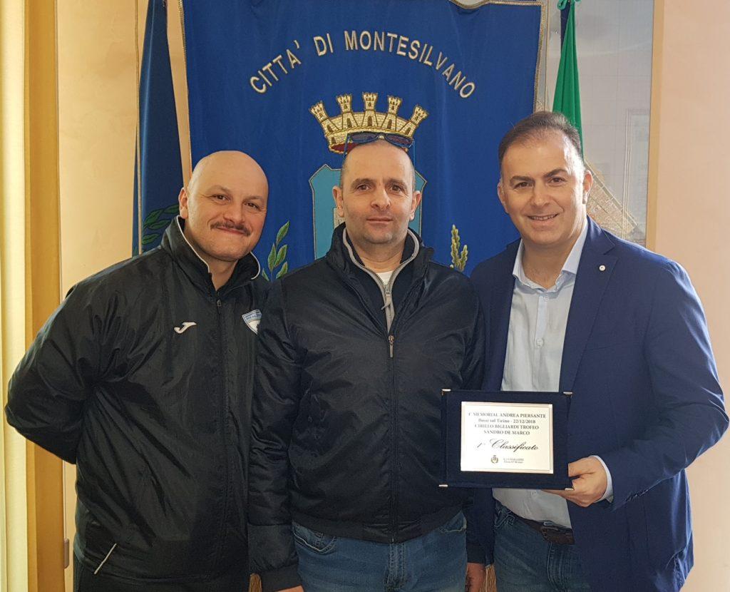 Montesilvano, premiato Sandro De Marco campione di biliardo
