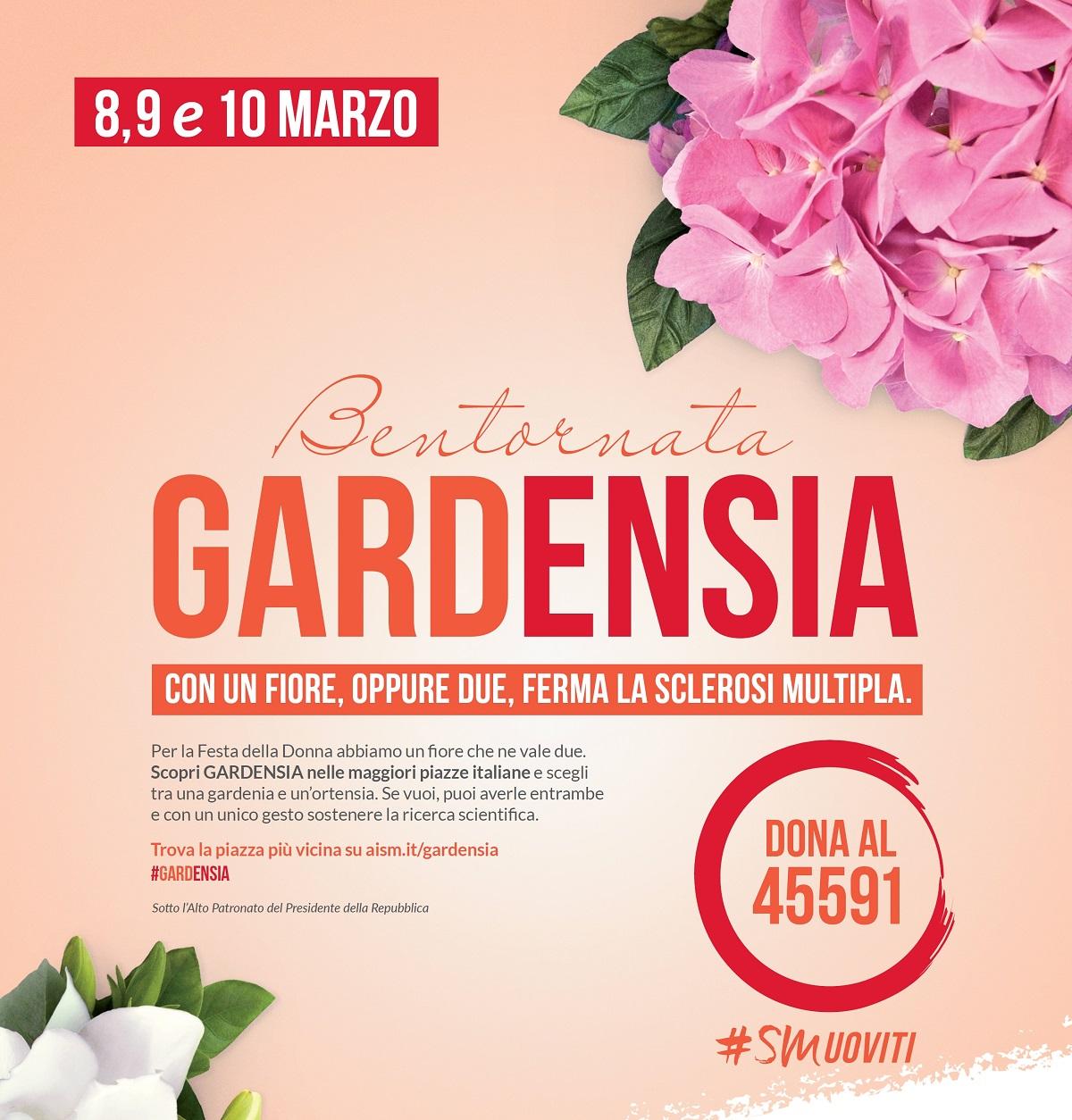 Bentornata Gardensia, in 5 mila piazze italiane per la Festa della Donna
