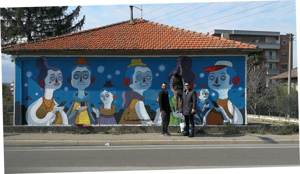 Rigenerazione urbana, completata Radical Zombie, l'opera di street art di Mr. Thoms