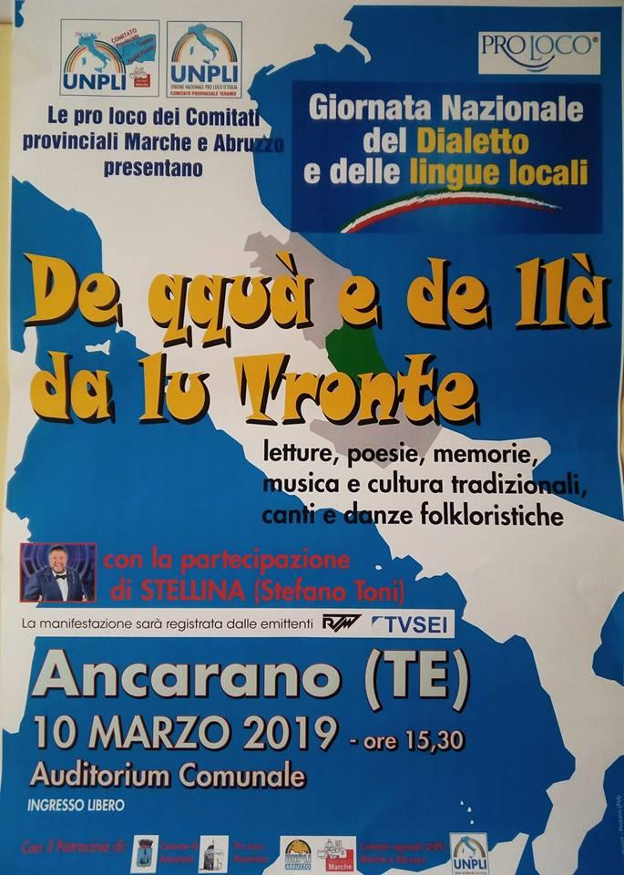 """""""De qquà e de llà da lu Tronte"""": ad Ancarano la rassegna sui dialetti di confine"""