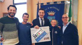 Triathlon, la campionessa Verena Steinhauser e l'allenatore Mantolini a Montesilvano