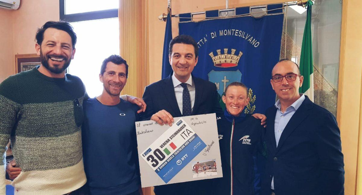 Triathlon,la campionessa Steinhauser e l'allenatore Mantolini a Montesilvano