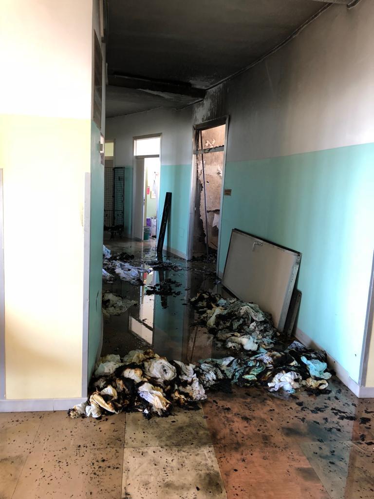 Incendio all'ospedale di Ortona: Si teme origine dolosa