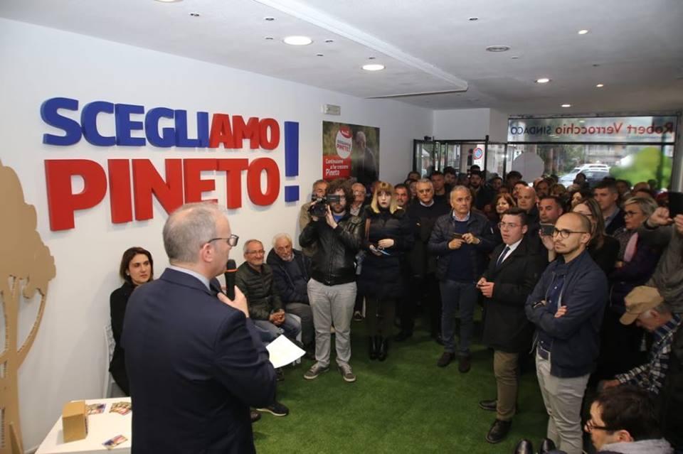 Comunali Pineto, inaugurata la sede elettorale di Verrocchio