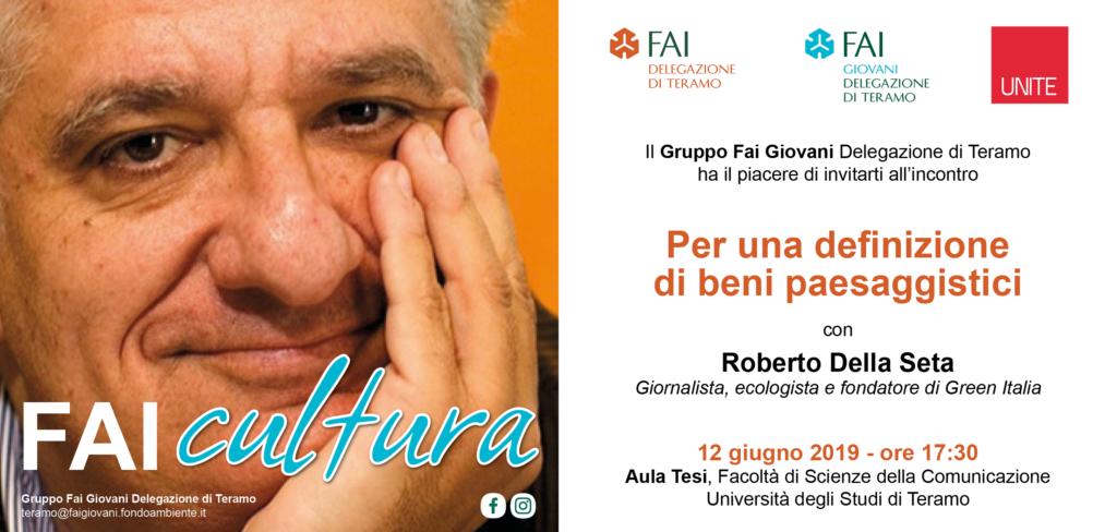 Roberto Della Seta a Teramo per parlare di beni paesaggistici