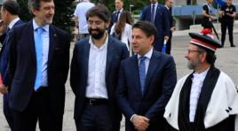 Forum internazionale Gran Sasso, Marsilio incontra il premier Conte