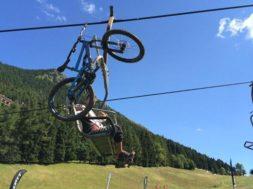 Seggiovia risalita bici