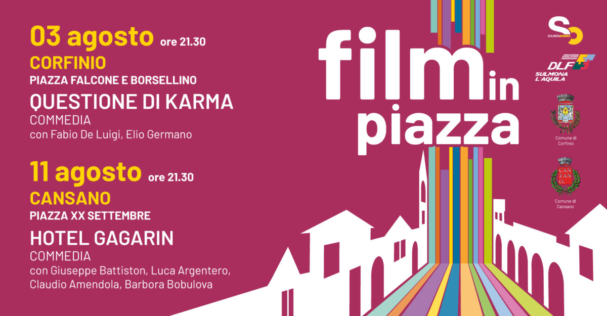 Film in piazza, mini rassegna di cinema all'aperto