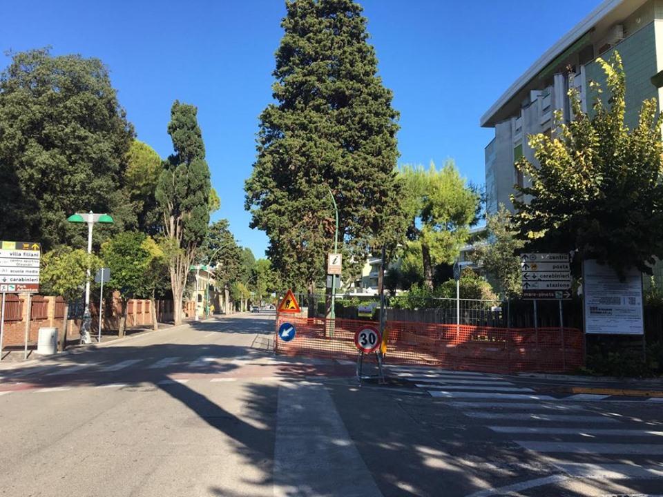 Al via i lavori di riqualificazione dei marciapiedi di Viale D'Annunzio