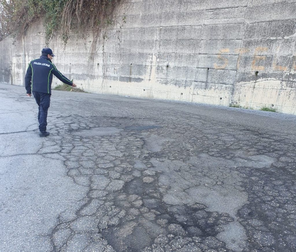 Ancarano,strade provinciali in pessimo stato: arriva il verbale della polizia locale