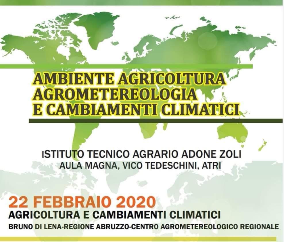 Atri, tre seminari sull'ambiente, l'agricoltura e i cambiamenti climatici