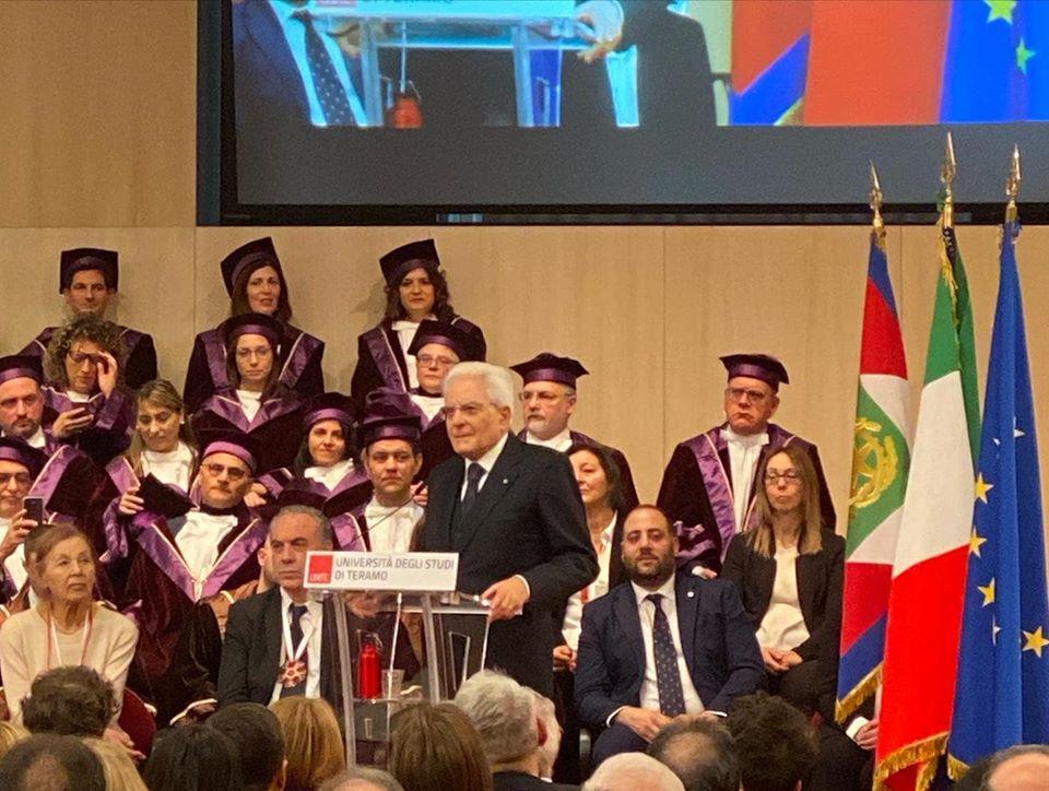 Il presidente Mattarella all'universita di Teramo per inaugurazione anno accademico