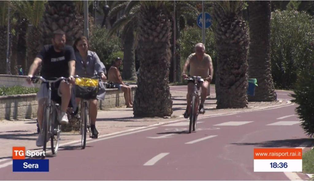 Tortoreto e ciclovia Adriatica sotto i riflettori del TG Sport di Rai Due