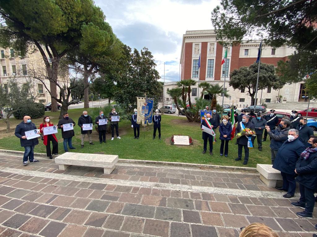 Celebrazioni a Pescara per il Giorno del Ricordo dei martiri delle foibe