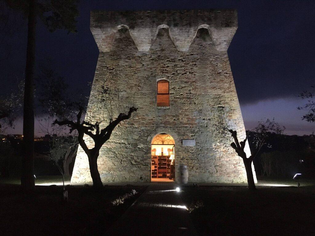 Riapre l'antica torre del Salinello, riqualificata e illuminata