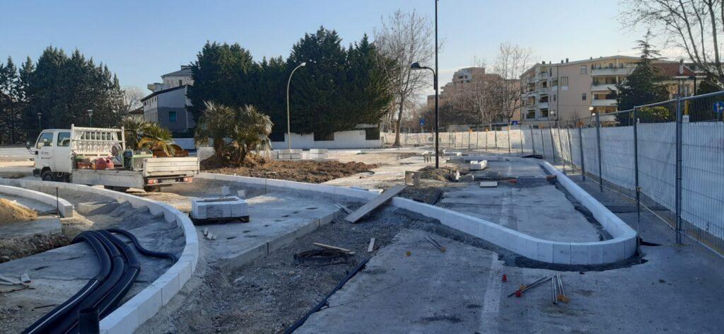 Pescara, strada Pendolo, avanza il cantiere