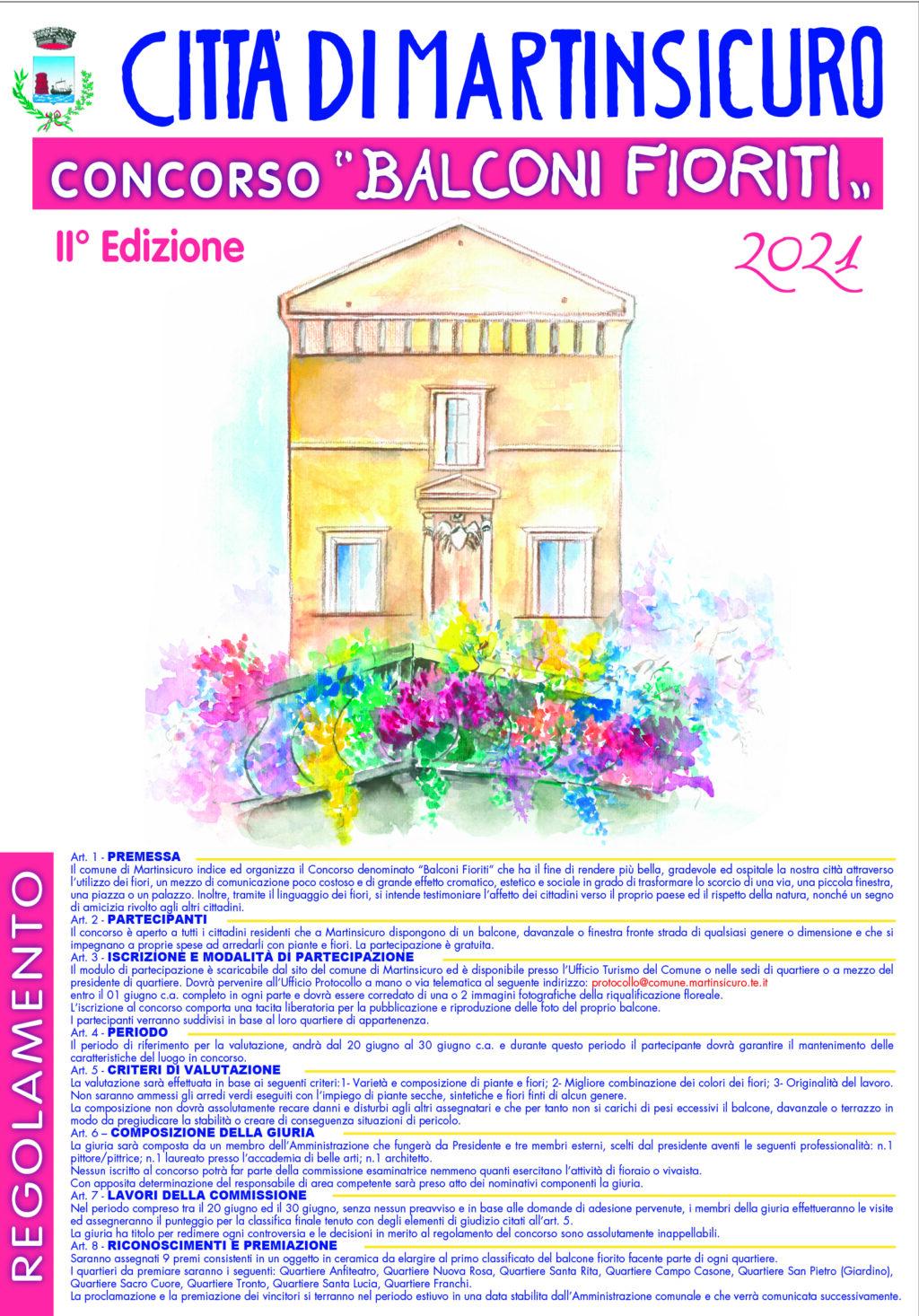 Martinsicuro, al via la seconda edizione di Balconi fioriti: 9 premi in palio