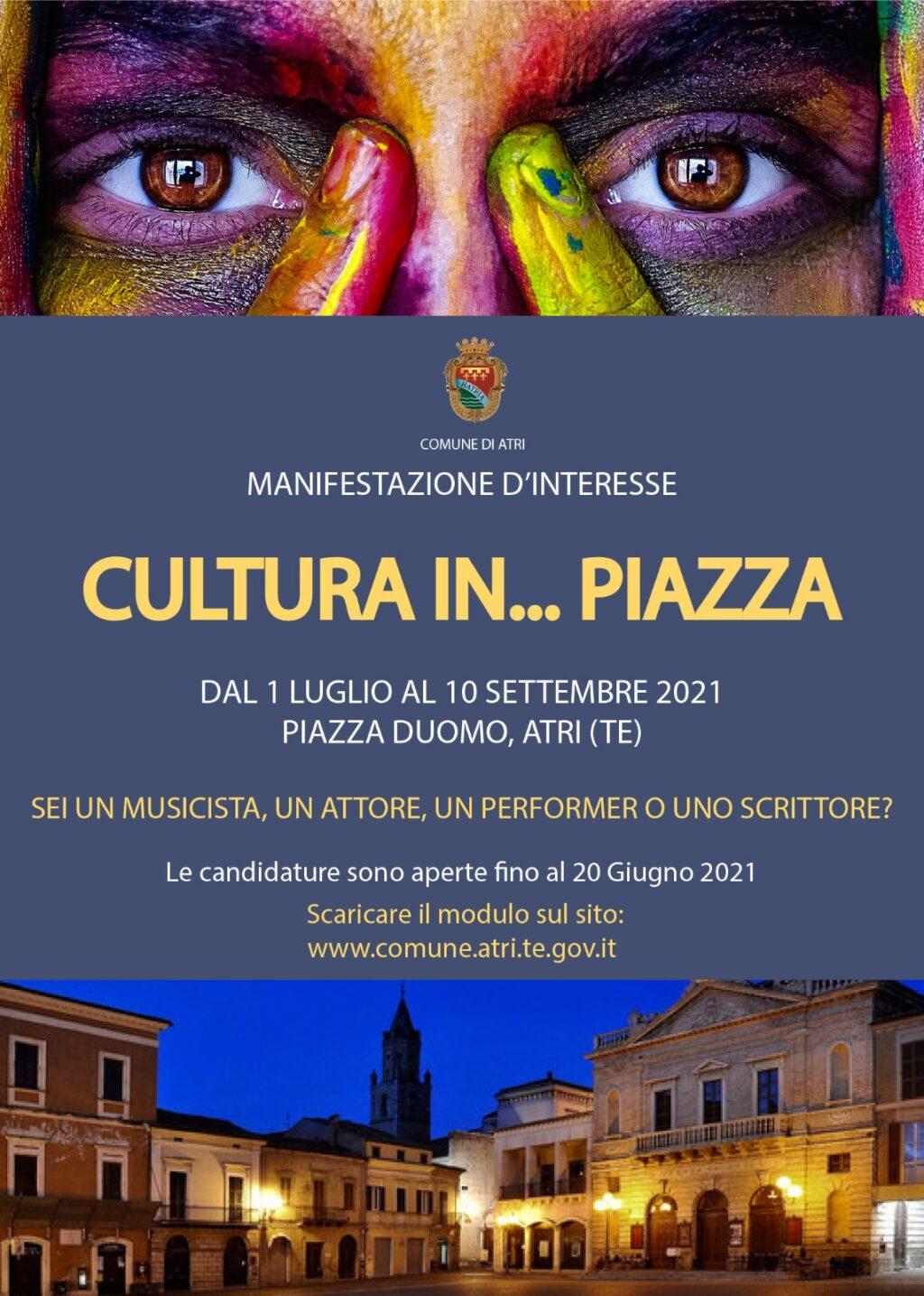 Estate Atri, manifestazione di interesse per iniziative culturali in piazza