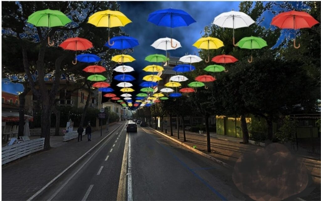 Giulianova, i colori della rinascita. 700 ombrellini per le vie della città