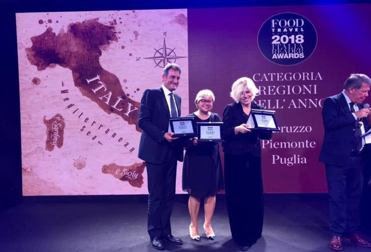 Turismo, Abruzzo premiato agli Awards Food and Travel Italia 2018