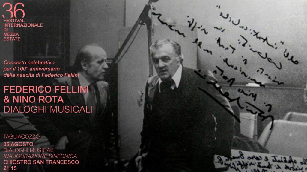 Festival di Tagliacozzo, un grande concerto celebra i 100 anni di Fellini