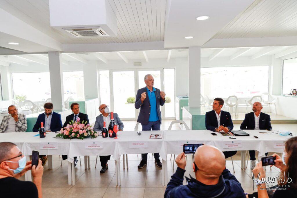 Tortoreto, Francesco Moser alla presentazione della tappa del Giro D'Italia