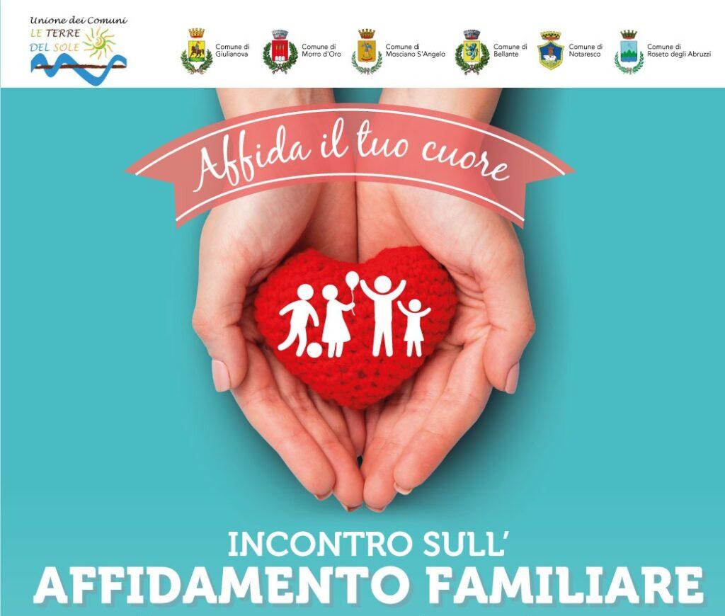 """A Giulianova """"Affida il tuo cuore """": incontro sull'affidamento familiare"""