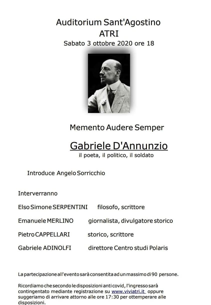 Incontro su Gabriele D'Annunzio ad Atri