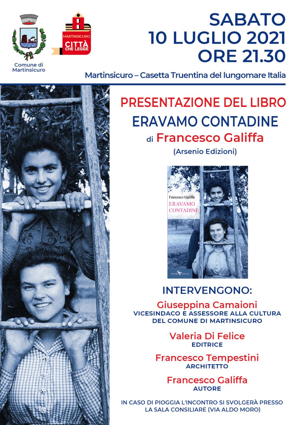 Eravamo contadine, il nuovo libro di Francesco Galiffa a Martinsicuro