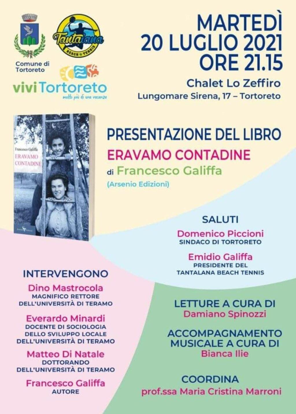"""Tortoreto, presentazione del libro """"Eravamo contadine"""" di Francesco Galiffa"""