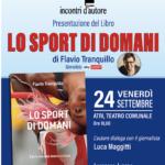 """Atri,  Incontri d'Autore. Il giornalista sportivo Flavio Tranquillo presenta il suo libro """"Lo sport di domani"""""""